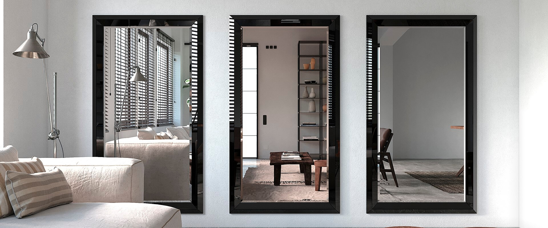 Spiegel Andora Black Frame nach Mass
